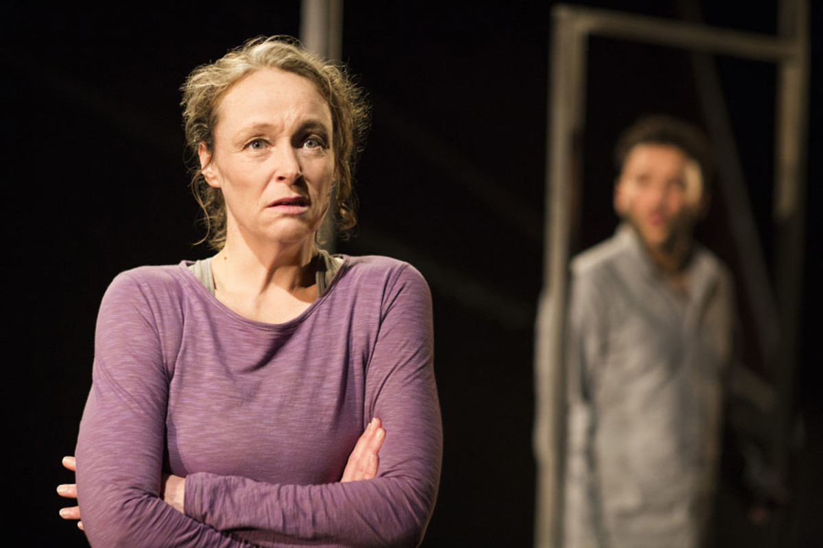 Penny Layden in Frantic Assembly's The Believers at the Tricycle Theatre (Photo: Helen Maybanks)