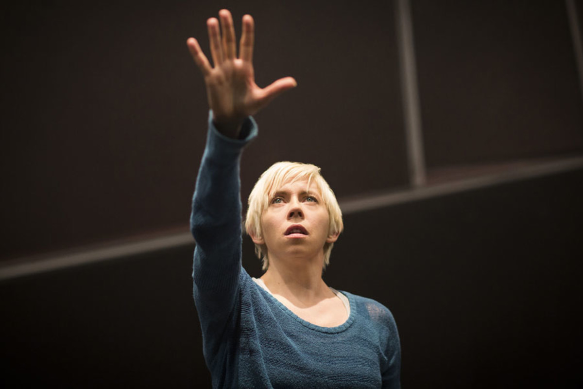 Eileen Walsh in Frantic Assembly's The Believers at the Tricycle Theatre (Photo: Helen Maybanks)