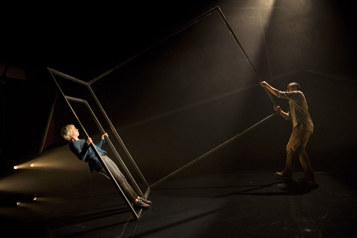 Penny Layden and Christopher Colquhoun in Frantic Assembly's The Believers at the Tricycle Theatre (Photo: Helen Maybanks)