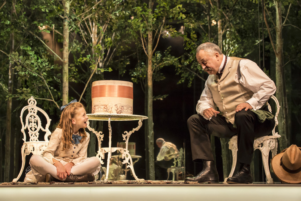 Zoe Brough and Stanley Townsend in The Nether at the Royal Court (Photo: Johan Persson)