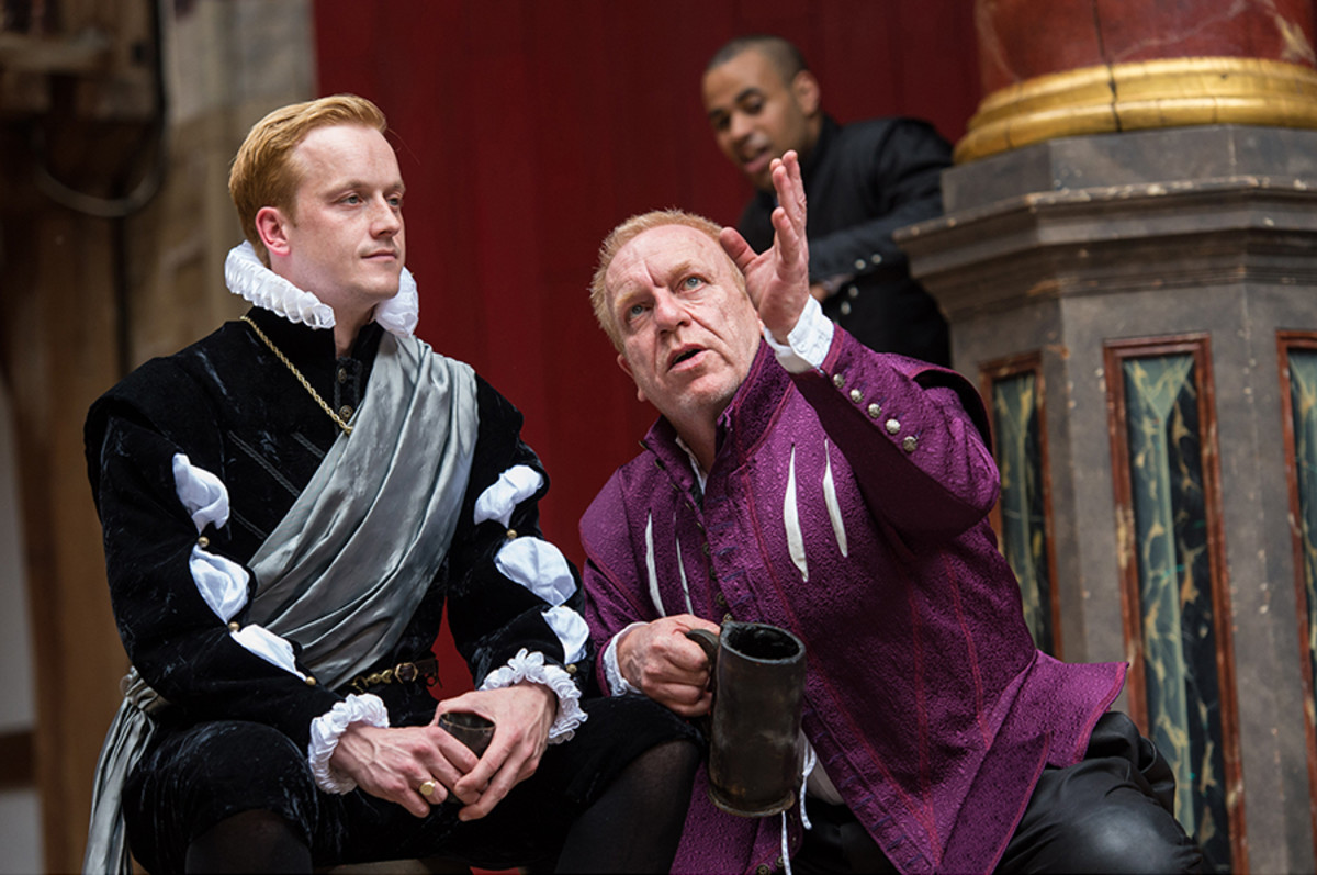 Jolyon Coy and Clive Wood in Antony And Cleopatra at Shakespeare's Globe (Photo: Manuel Harlan)