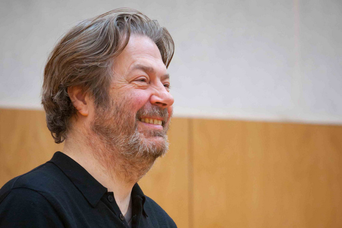Roger Allam rehearses The Tempest at Shakespeare's Globe