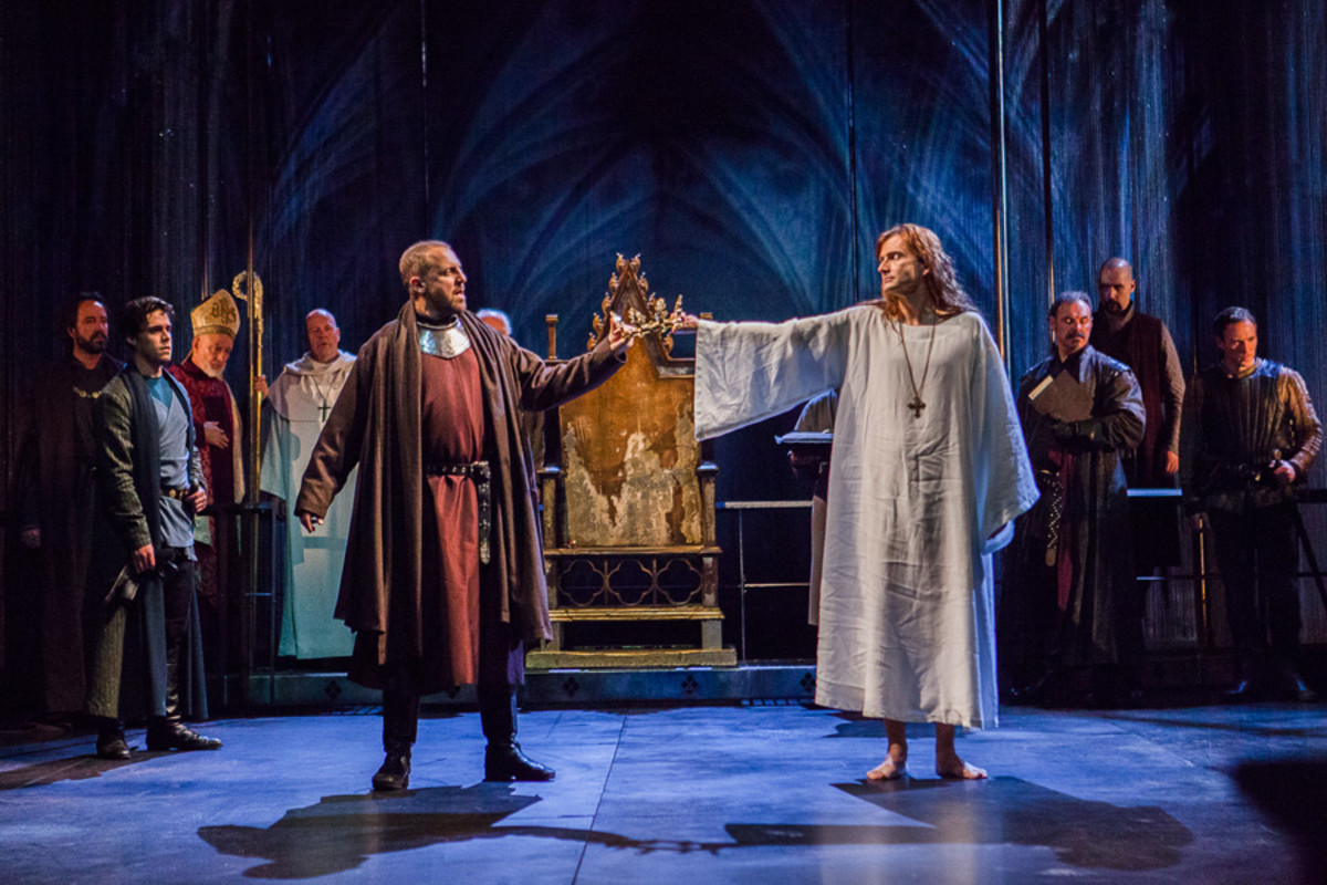 David Tennant in the RSC's Richard II at the Barbican theatre Nigel Lindsay and David Tennant in the RSC's Richard II at the Barbican theatre (Photo: Kwame Lestrade)