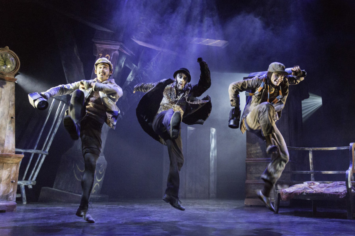 Will Kemp, Christopher Akrill and Clemmie Sveaas in The Wind In The Willows (Photo: Johan Persson)