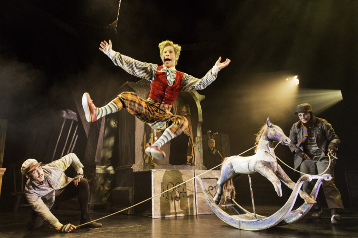 Will Kemp, Cris Penfold and Clemmie Sveaas in The Wind In The Willows (Photo: Johan Persson)