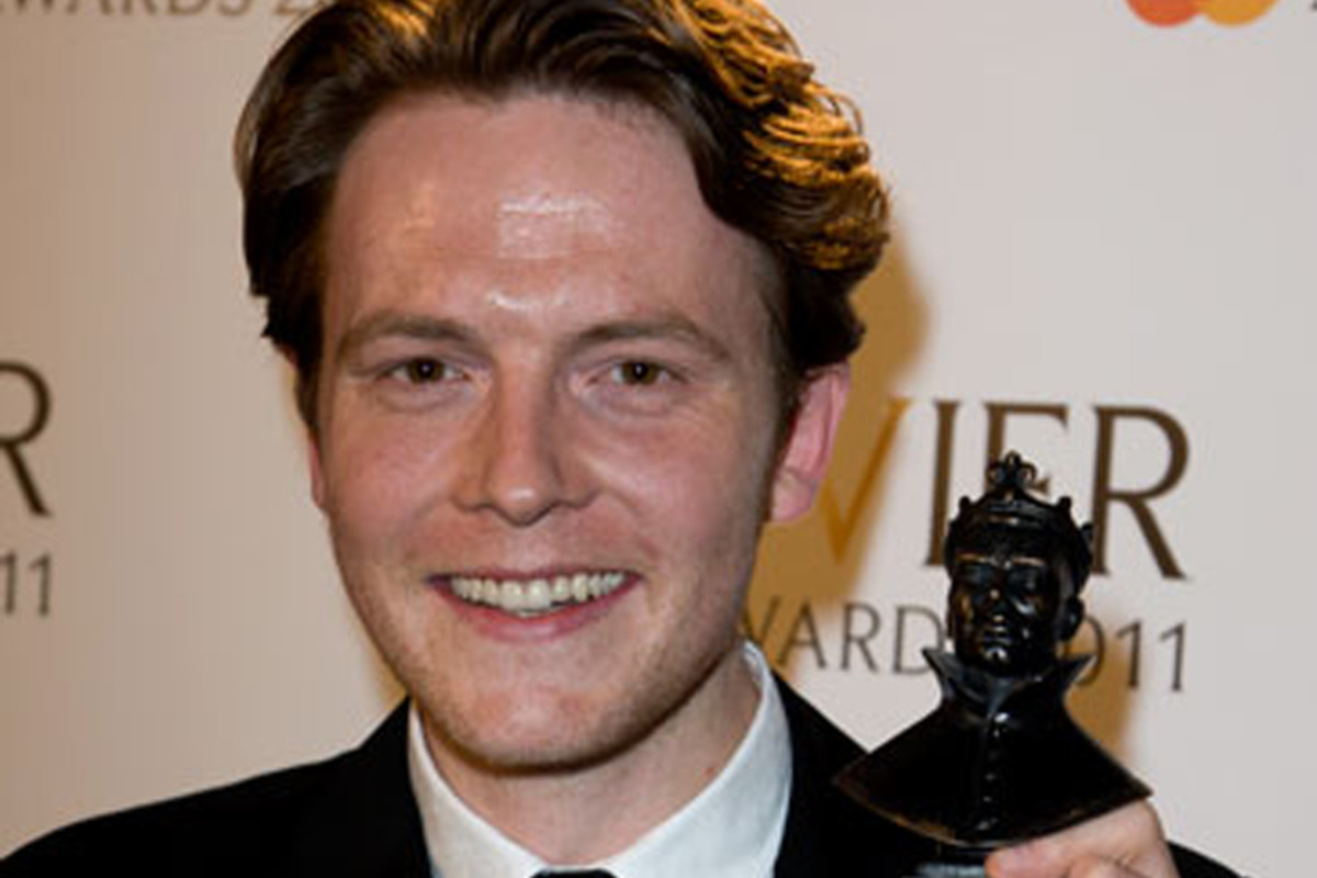 David Thaxton wins the 2011 Olivier Award for Best Actor in a Musical (Photo: Dan Wooller)