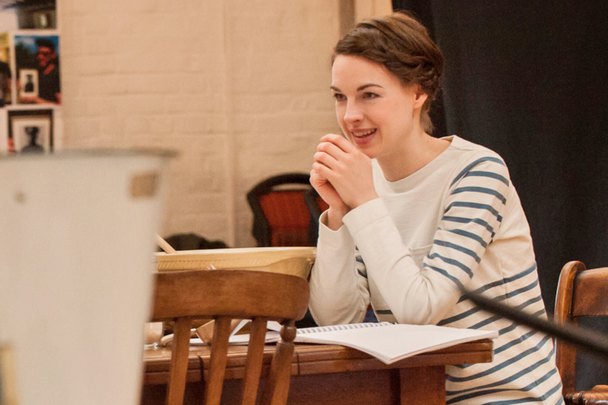 Jessica Raine in rehearsals for Roots at the Donmar Warehouse (Photo: Stephen Cummiskey)