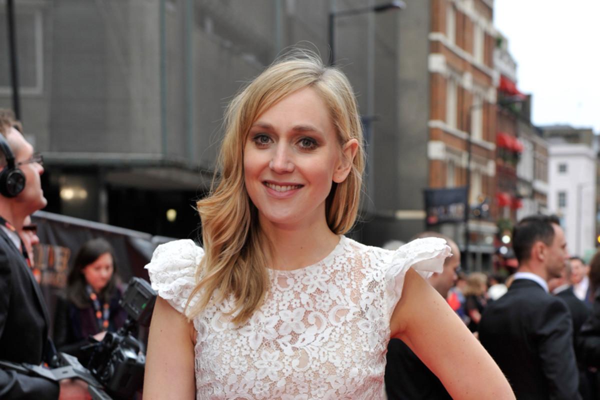 Hattie Morahan on the Olivier Awards red carpet in 2013 (Photo: Sarah Jeynes) (Carousel)