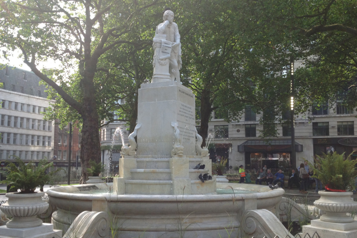 The statue of Shakespeare in Leicester Square