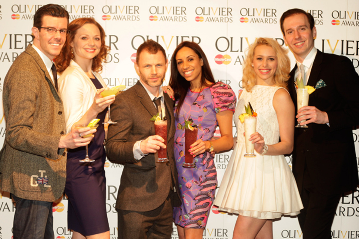 Gavin Lee, Kristen Beth Williams, Mark Letheren, Debbie Kurup, Rebecca Herszenhorn and Ed Currie at the Nominations Announcement for the Olivier Awards 2013 with MasterCard