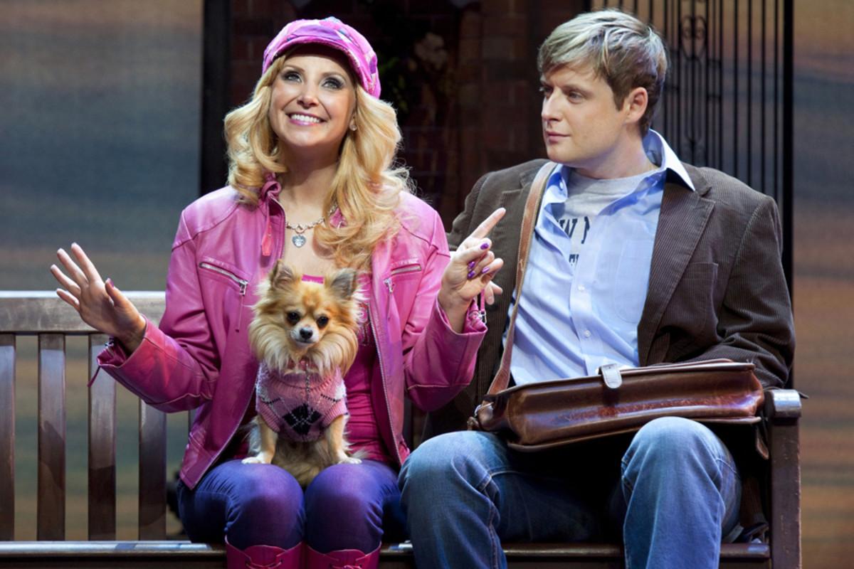 Carley Stenson and Stephen Ashfield star in Legally Blonde The Musical (photo: Ellie Kurtz)