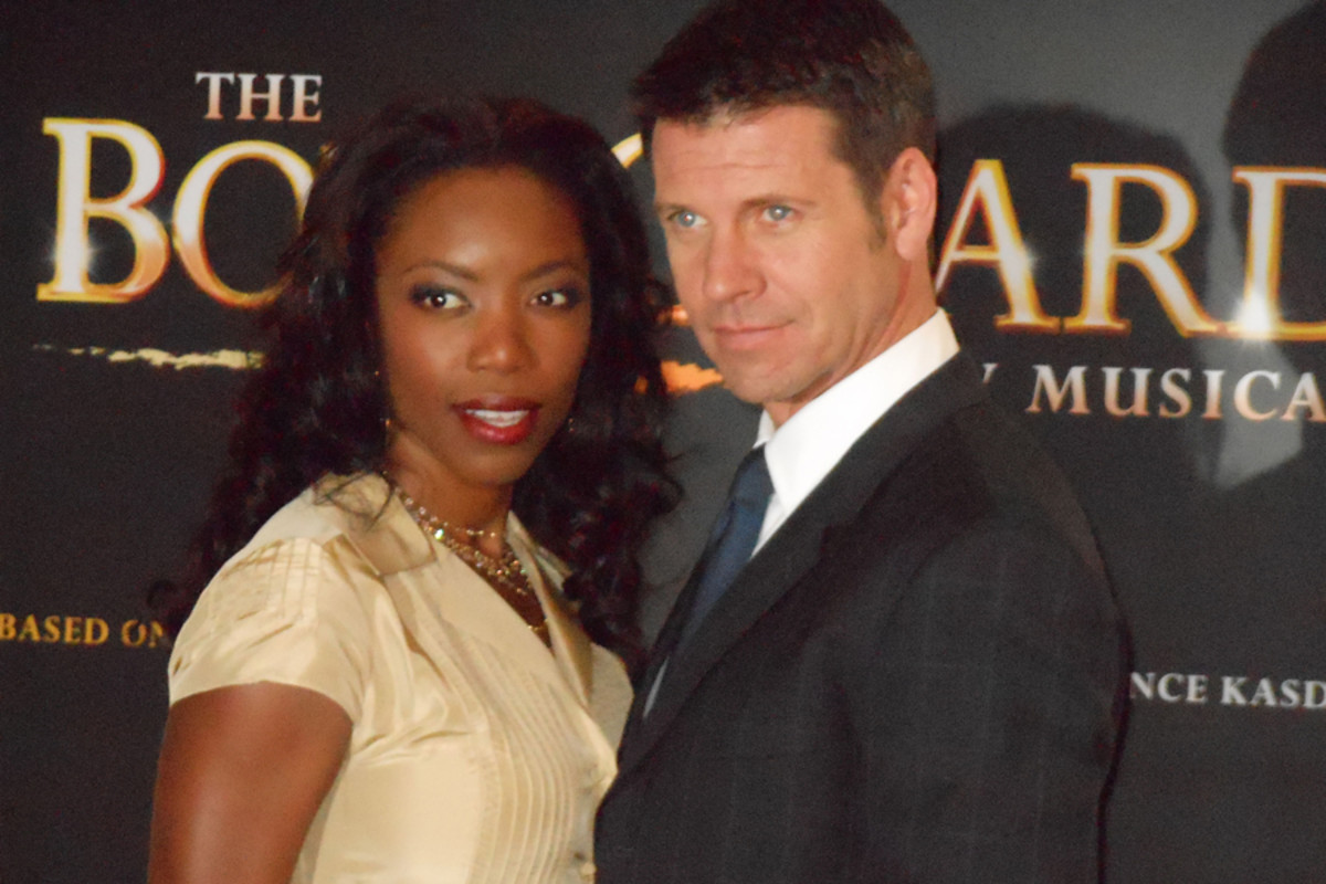 Heather Headley and Lloyd Owen at the launch of The Bodyguard