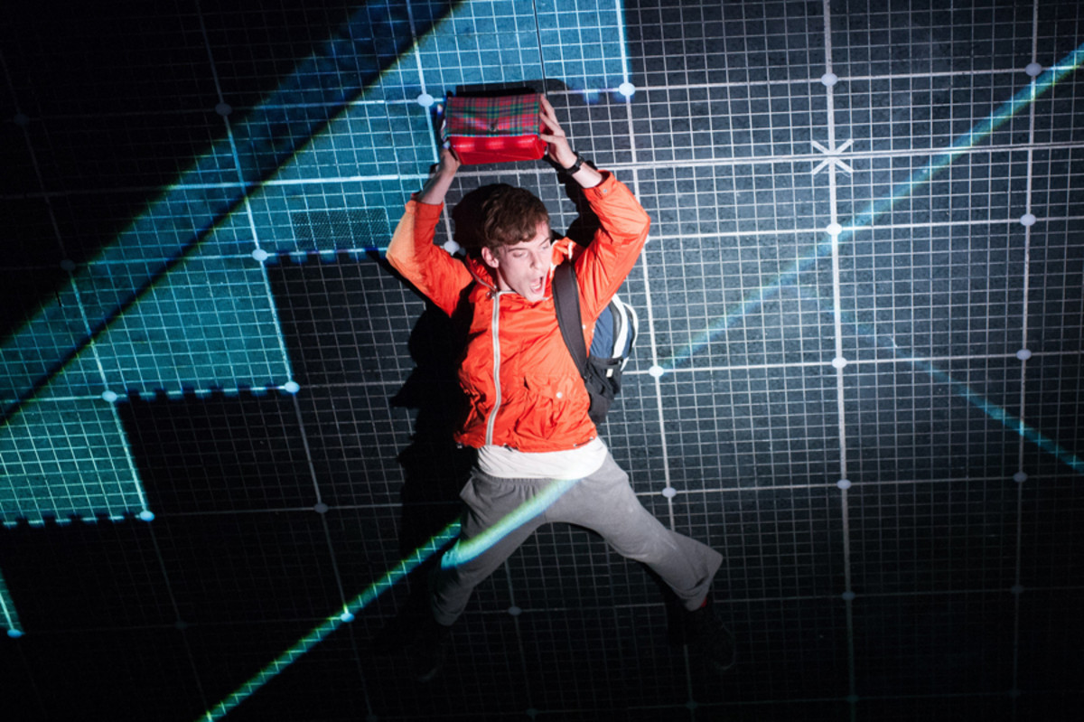 Luke Treadaway stars in The Curious Incident Of The Dog In The Night-Time, playing at the National Theatre (photo: Manuel Harlan)