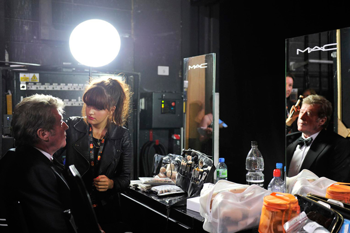 Michael Crawford backstage at the Olivier Awards 2013 (photo: Sarah Jeynes)