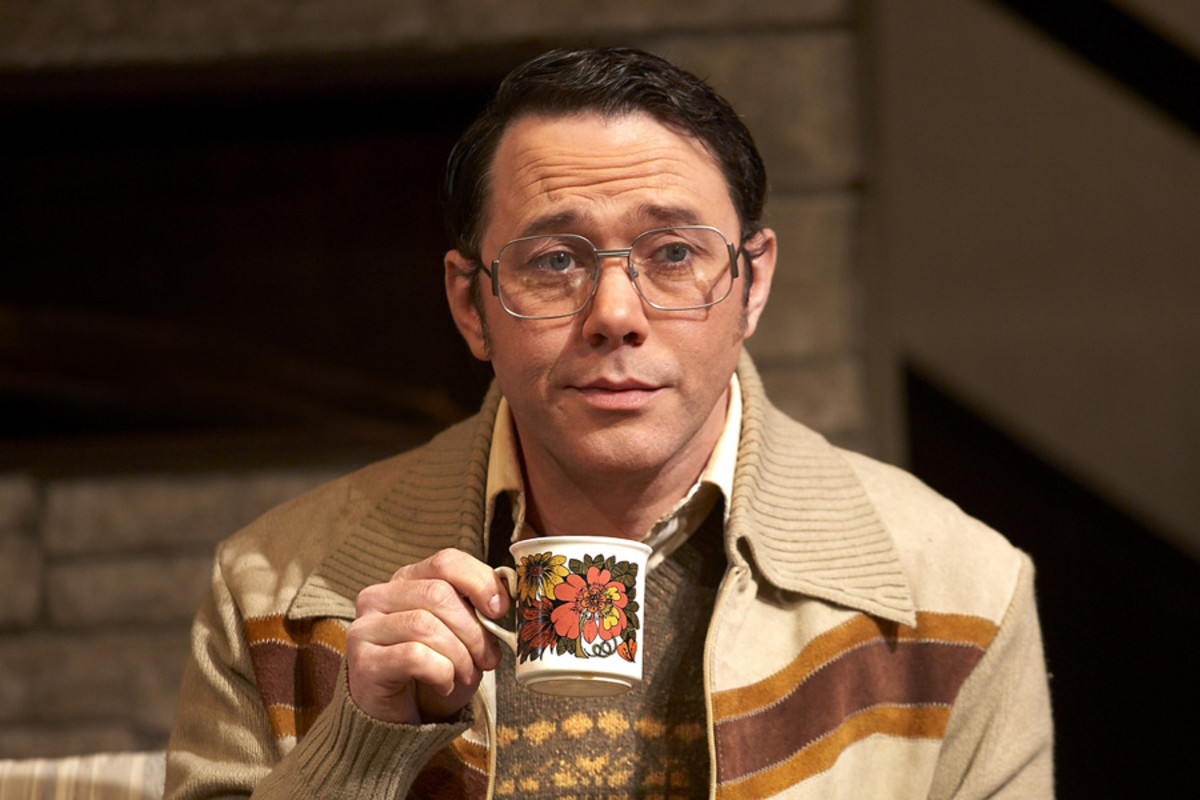 Shearsmith in Absent Friends - photo by Simon Annand