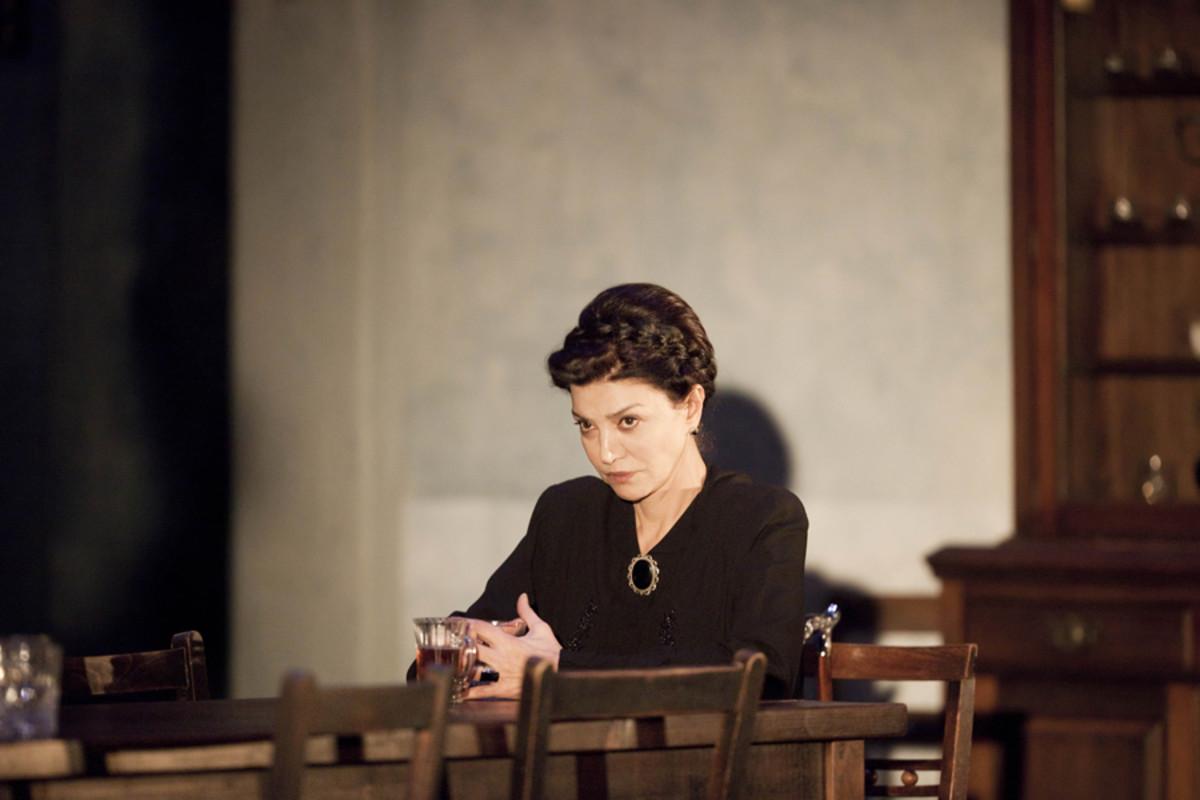 Shohreh Aghdashloo stars in The House Of Bernarda Alba, playing at the Almeida theatre (photo: Johan Persson)