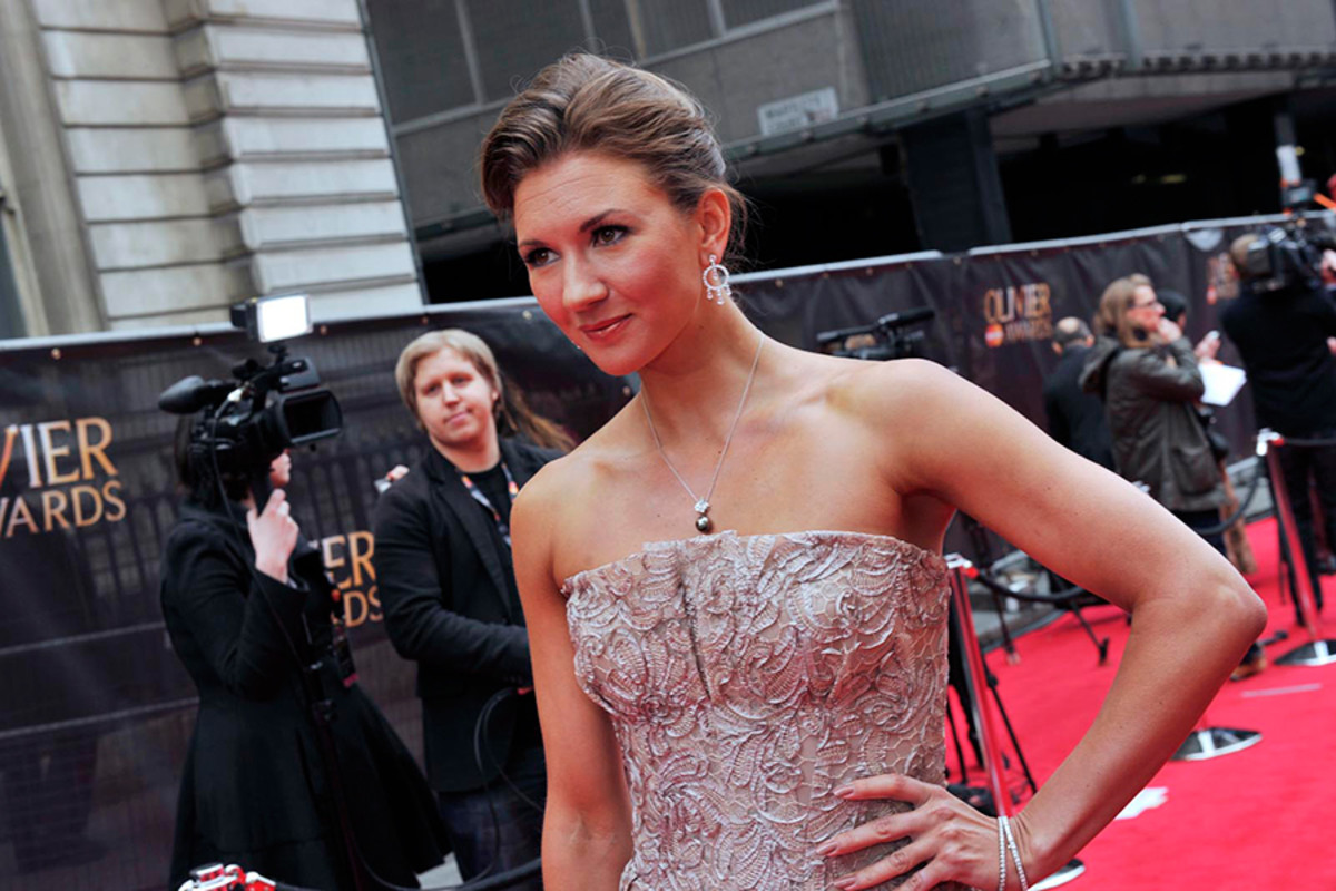 Summer Strallen on the Red Carpet at the Olivier Awards 2013 (photo: Sarah Jeynes)