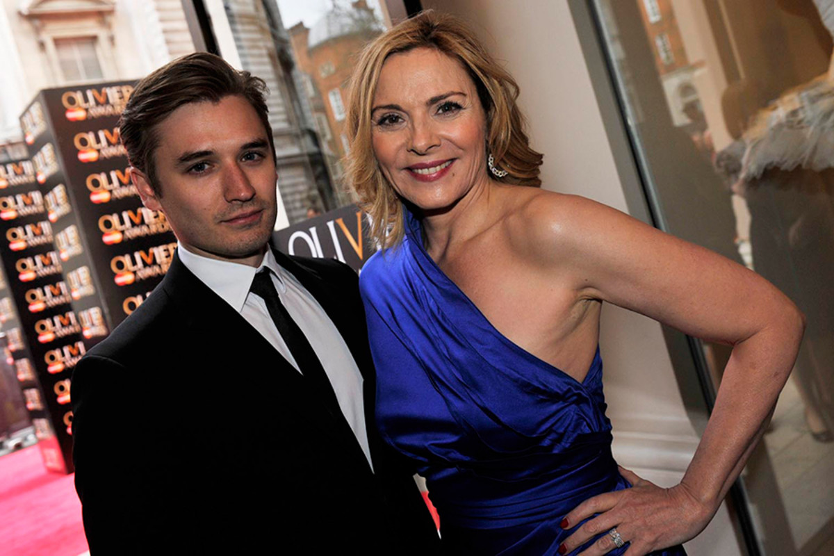 Seth Numrich and Kim Cattrall on the Red Carpet at the Olivier Awards 2013 (photo: Sarah Jeynes)
