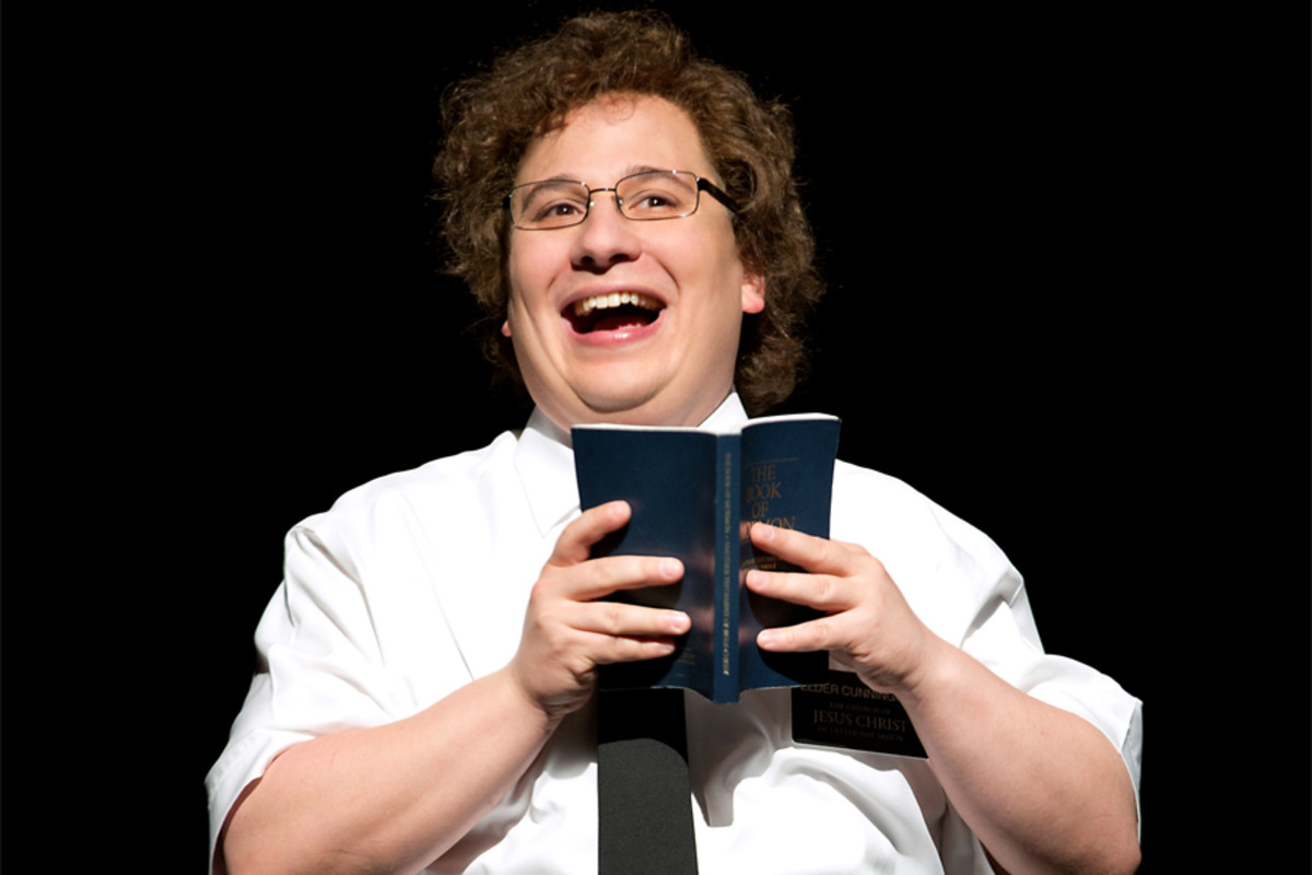 Jared Gertner plays Elder Cunningham in The Book Of Mormon, playing at the Prince of Wales theatre (photo: Joan Marcus)