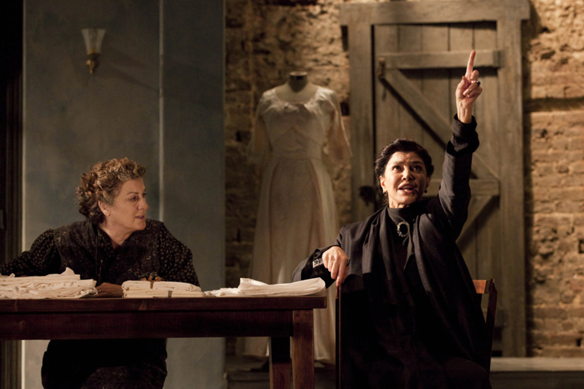 Jane Bertish and Shohreh Aghdashloo star in The House Of Bernarda Alba, playing at the Almeida theatre (photo: Johan Persson)