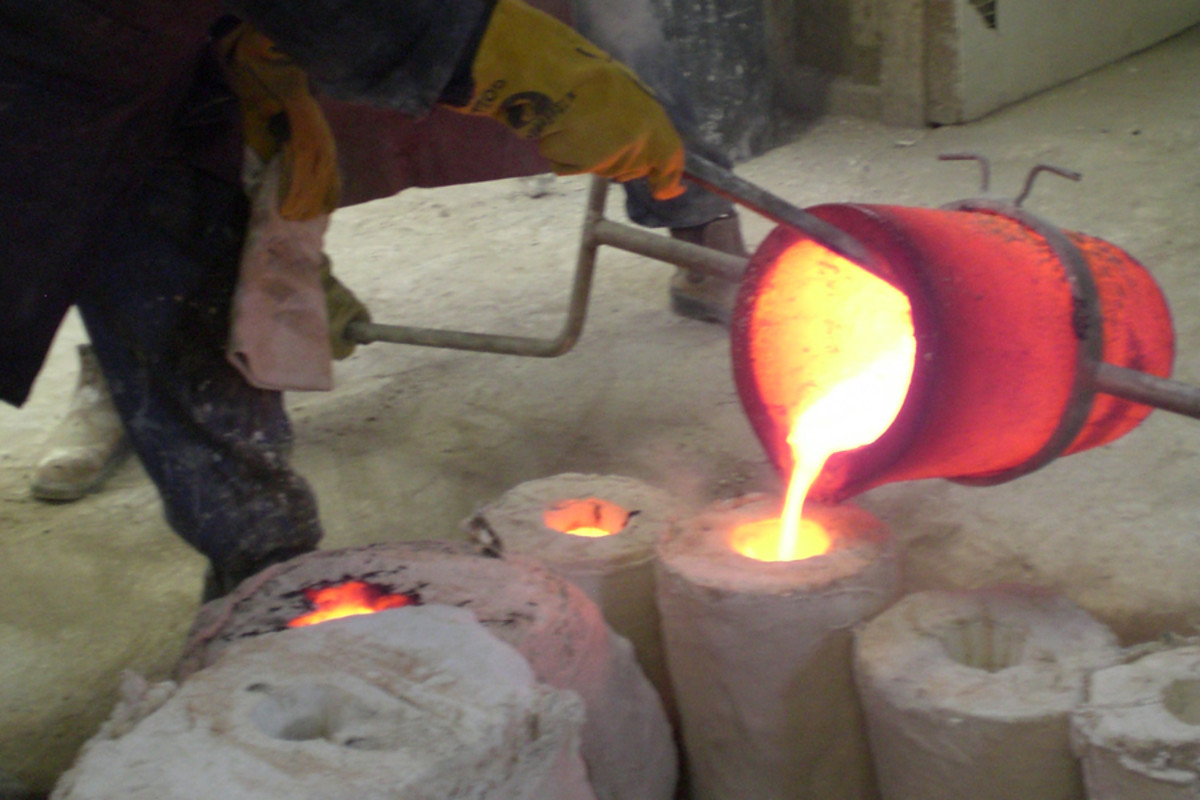 Foundry 2: Poured into mould