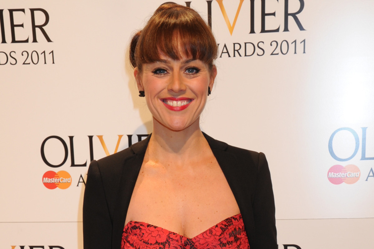 Jill Halfpenny at the 2012 Olivier Awards with MasterCard
