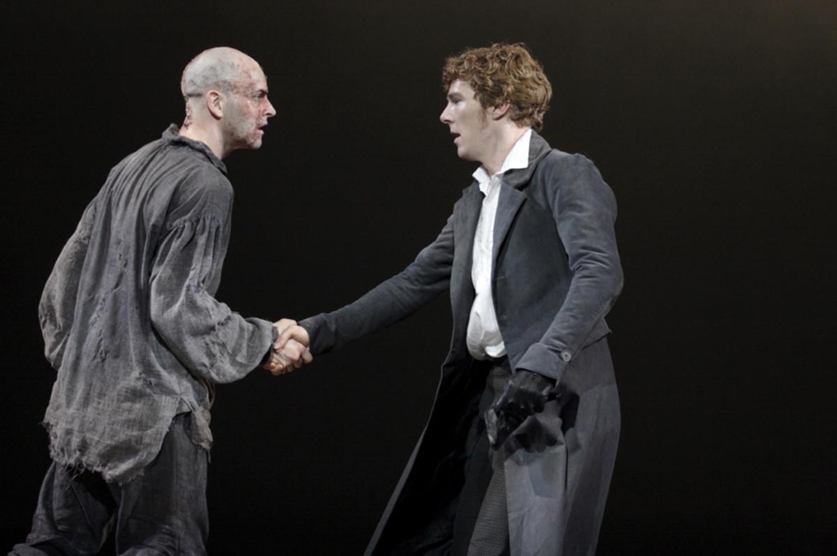 Jonny Lee Miller and Benedict Cumberbatch star in Frankenstein (photo: Catherine Ashmore)