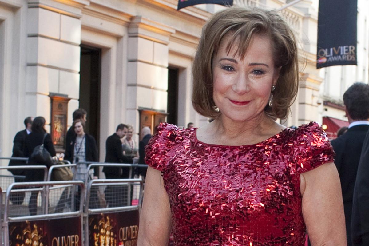 Zoe Wanamaker on the Olivier Awards red carpet (photo: Helen Maybanks)