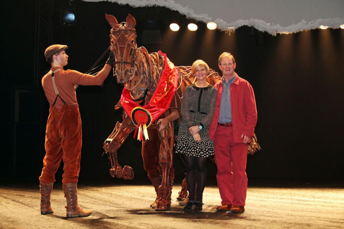 Marianne Elliot and Michael Morpurgo at the 5th anniversary of War Horse (photo: Ellie Kurttz)