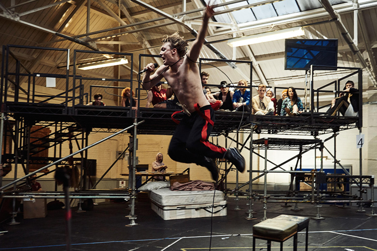 Andrew Polec in rehearsals for Bat Out Of Hell - The Musical (Photo: Specular)