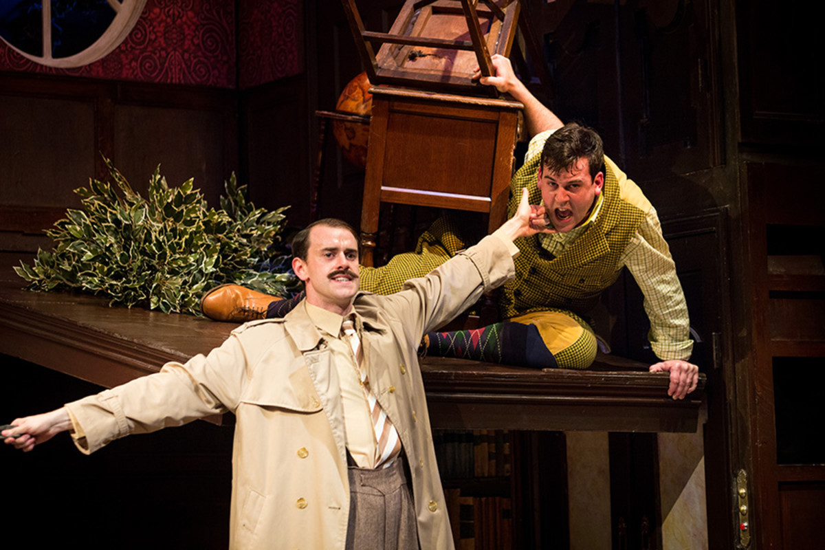 Hayden Wood and Adam Byron in The Play That Goes Wrong (Photo: Helen Murray)