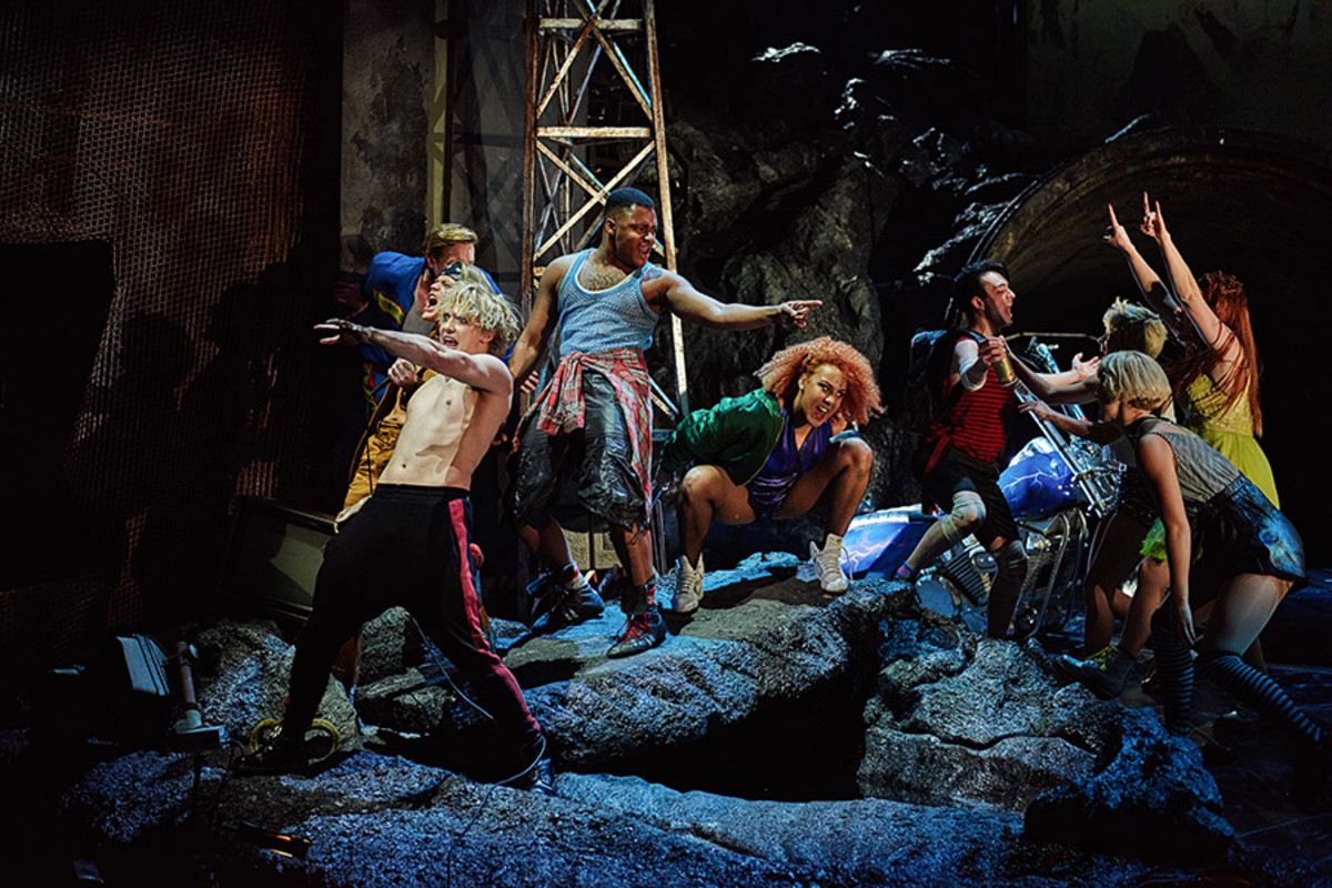 Andrew Polec as Strat and the cast in Bat Out Of Hell - The Musical (Photo: Specular)