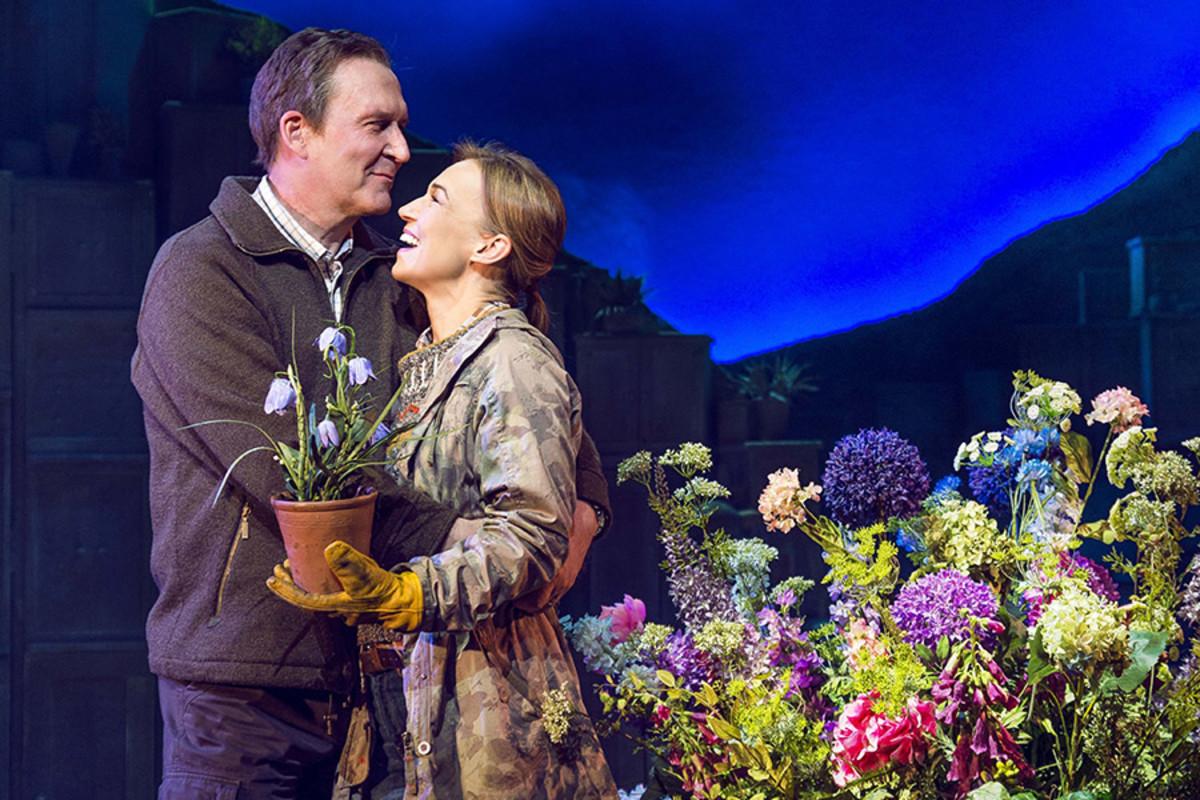 James Gaddas as John and Joanna Riding as Annie in The Girls (Photo: Matt Crockett, Dewynters)