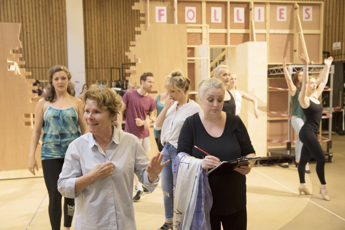 Imelda Staunton and Liz Ewing in rehearsal for Follies at the National Theatre (Photo: Johan Persson)