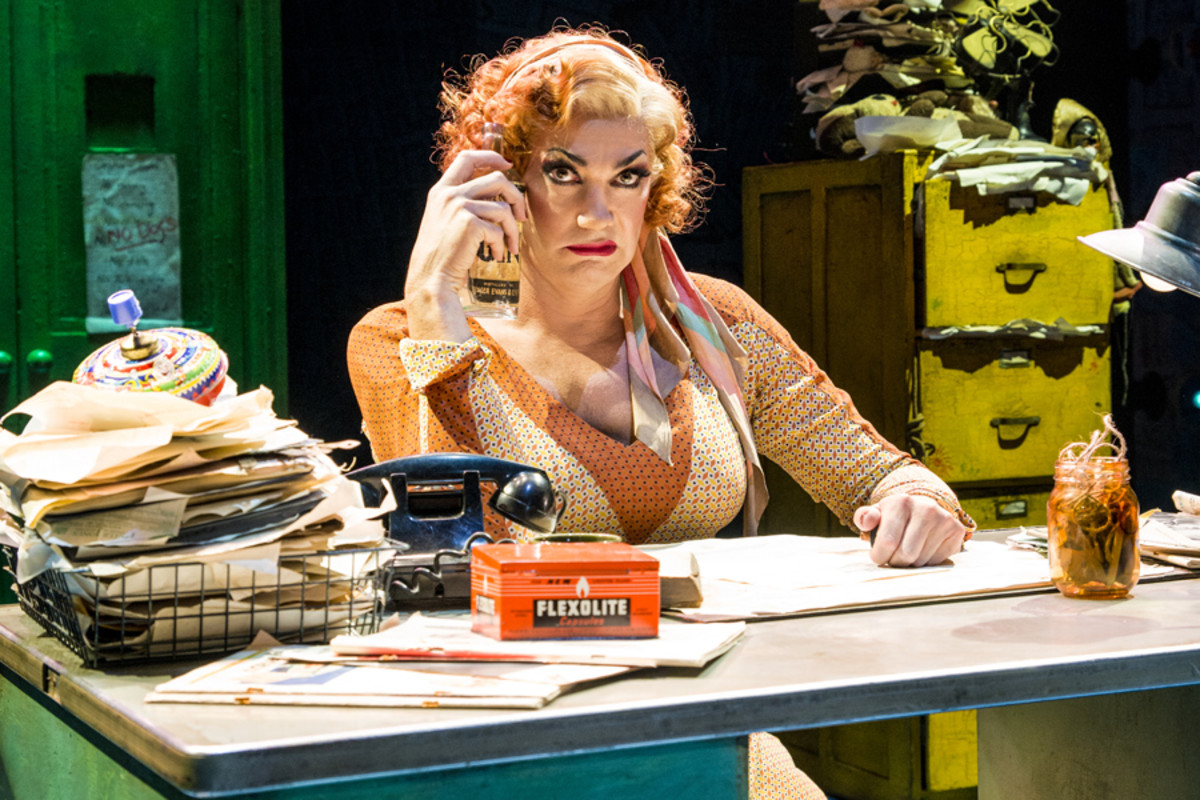Craig Revel Horwood as Miss Hannigan in Annie (Photo: Matt Crockett)