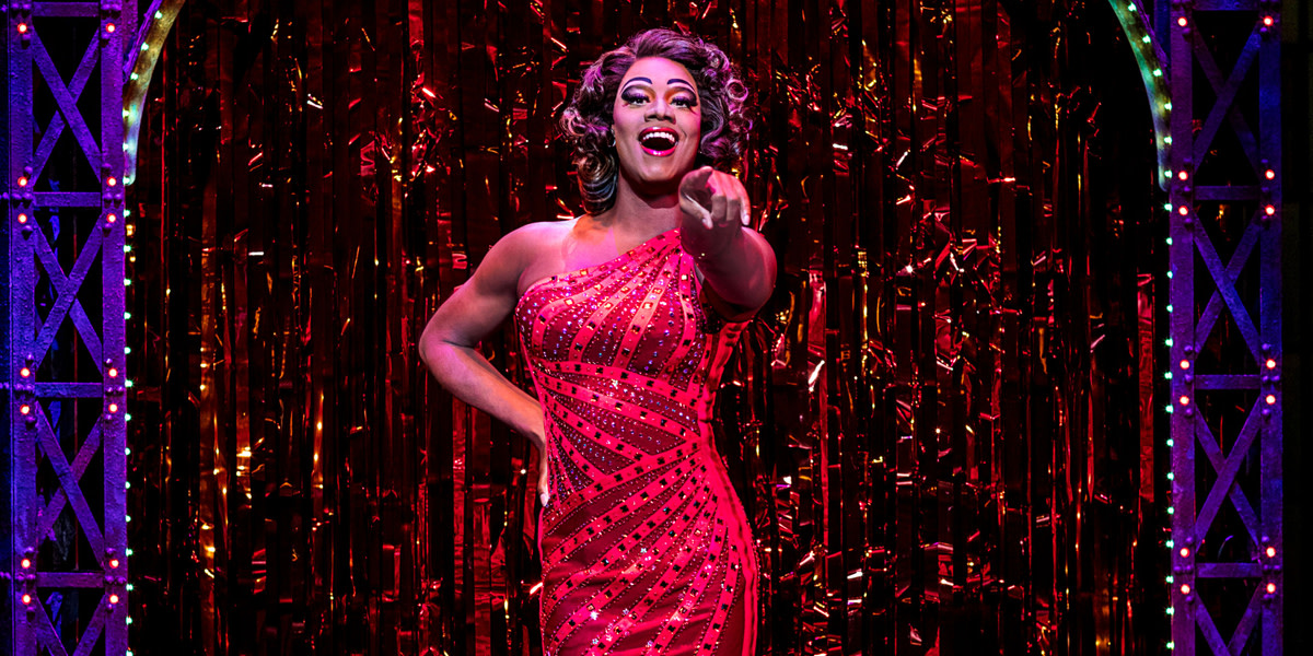 Simon Anthony-Roden as Lola in Kinky Boots at the A