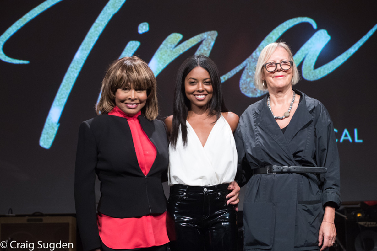 Tina Turner, Adrienne Warren and Phyllida Lloyd at the launch event for Tina - The Tina Turner Musical (Photo: Craig Sugden)