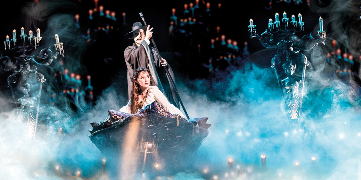 Ben Lewis (The Phantom) and Kelly Mathieson (Christine Daae) in The Phantom Of The Opera (Photo: Johan Persson)