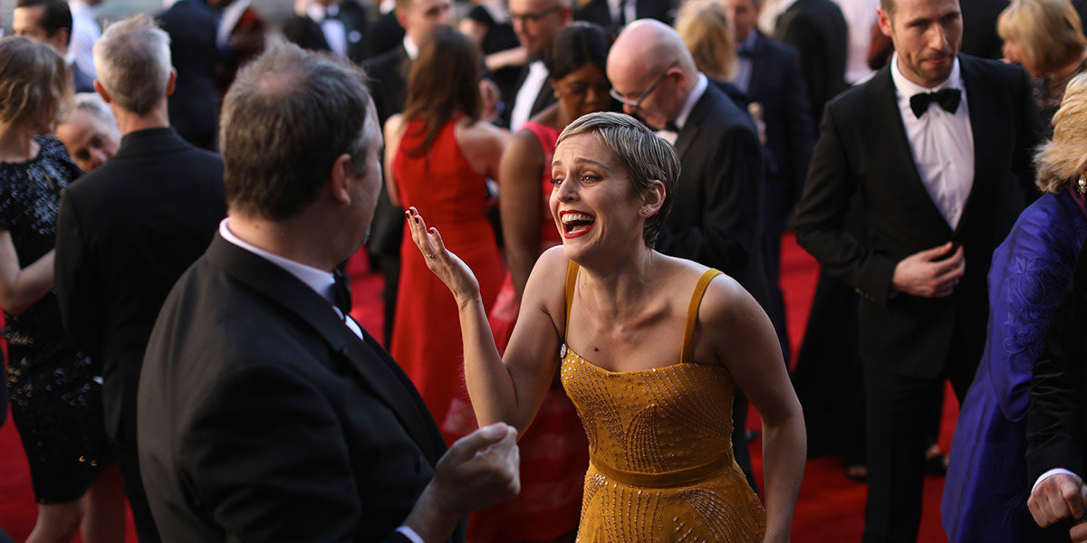 Denise Gough on the Olivier Awards 2017 with Mastercard red carpet (Photo: David Levene)