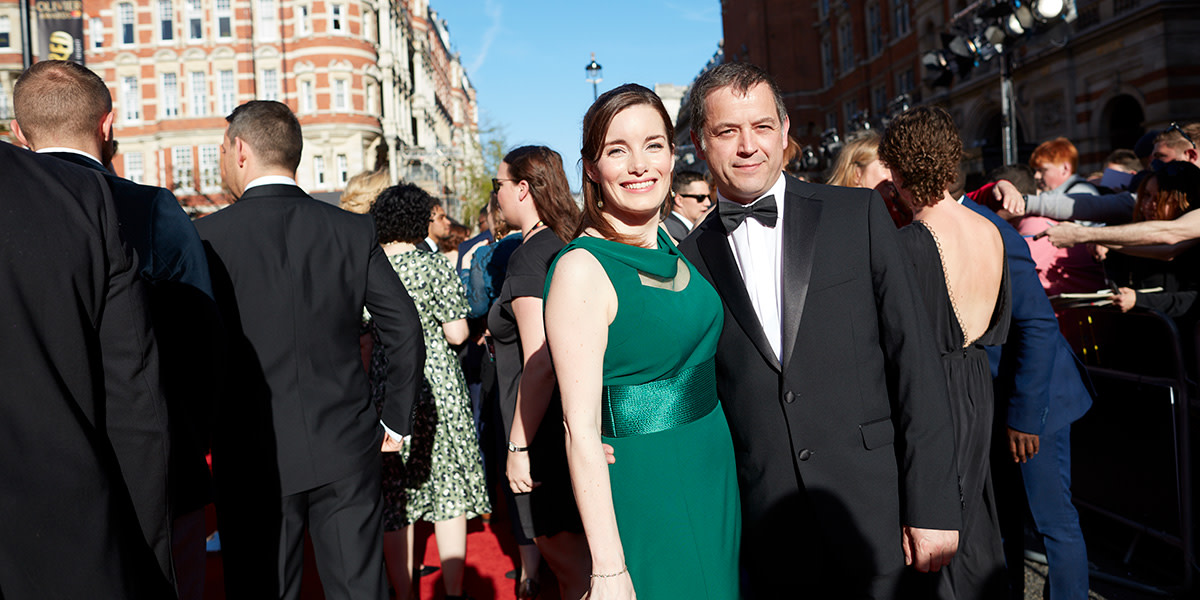 Rebecca Trehearn on the Olivier Awards 2017 with Mastercard red carpet (Photo: David Levene)