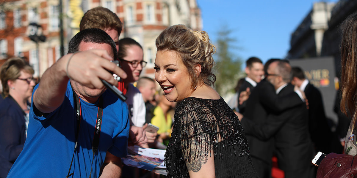 Sheridan Smith on the Olivier Awards 2017 with Mastercard red carpet (Photo: David Levene)