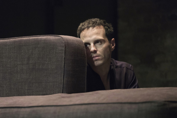 Andrew Scott (Hamlet) in Hamlet at the Harold Pinter Theatre (Photo: Manuel Harlan)