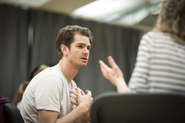 Andrew Garfield in rehearsals for Angels In America at the National Theatre (Photo: Helen Maybanks)