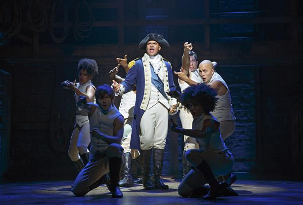 Christopher Jackson as George Washington in Hamilton on Broadway