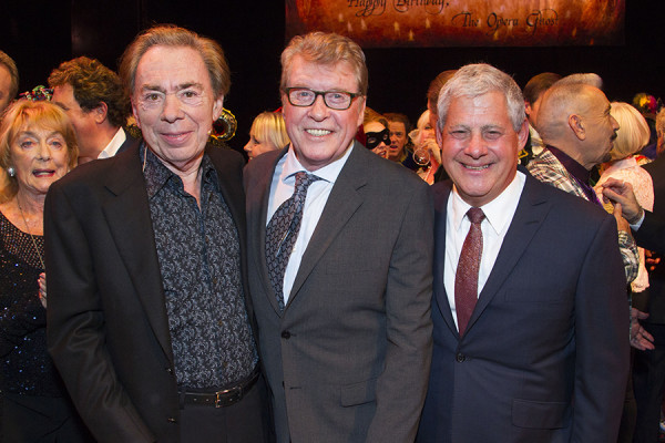 Phantom Of The Opera Actors: Andrew Lloyd Webber, Michael Crawford and Cameron Mackintosh. (Photo: Dan Wooller)
