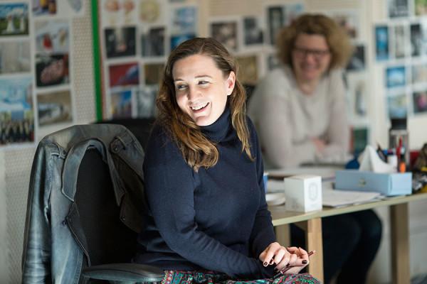Josie Rourke in rehearsals for Elegy (Photo: Donmar Warehouse)