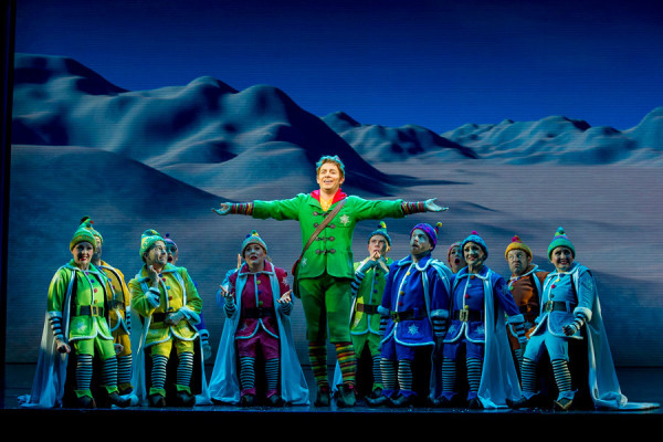 Ben Forster and the West End cast of Elf (Photo: Alastair Muir)