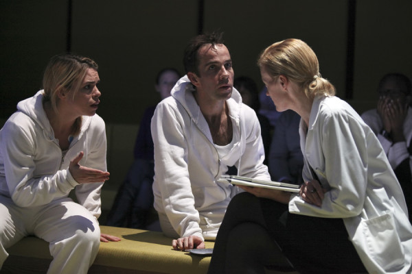 Billie Piper, Jonjo O'Neill and Anastasia Hille in The Effect (photo: Ellie Kurtz)