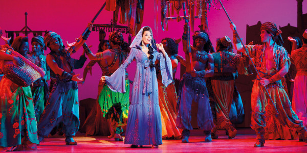 Jade Ewen stars as Jasmine in Disney's Aladdin at the Prince Edward Theatre (Photo: Johan Persson)