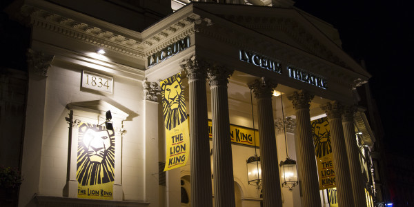 The Lyceum Theatre hosts The Lion King in the West End